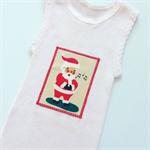 Pink Santa Baby Singlet, Appliqued Singlet, Cotton, Size 00